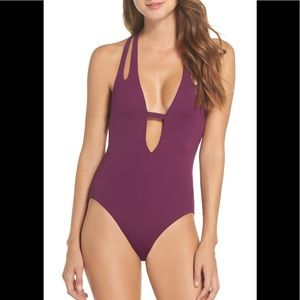 BECCA - Color Code Plunge One-Piece Swimsuit